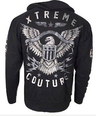 - Xtreme Couture Men ZIP Hoodie Sweat Shirt Jacket BRAVENET ZIP HOOD Biker UFC $78