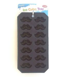 Mustache Fish rubber Ducky Duck Butterfly MOLD Ice Cube tray plastic US SELLER