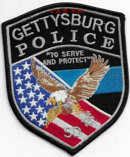"*NEW*  Gettysburg, South Dakota  (4"" x 5"" size) shoulder police patch (fire)"
