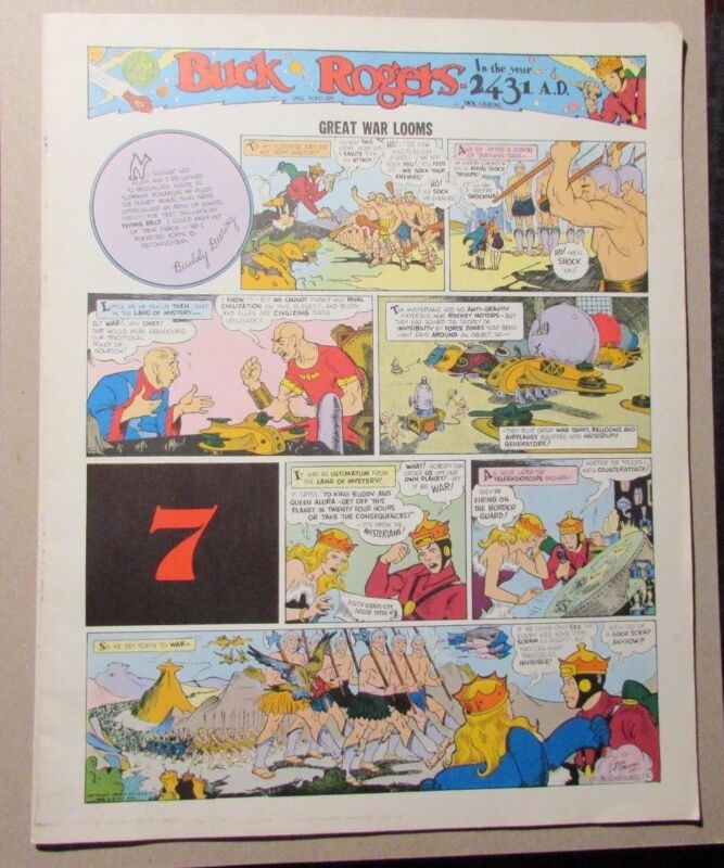 1981 BUCK ROGERS Club Anni Trenta #7 FN+ Great War Looms