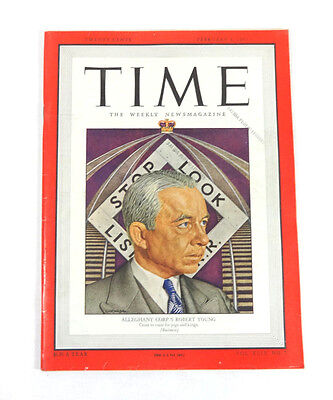 Time Magazine Alleghany Corps Robert Young  Feb 3  1947  Business 1940S Ads