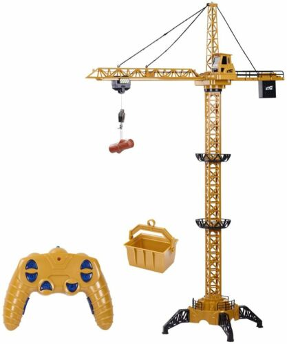 Fistone RC Tower Crane 6 CH 2.4GHz 50.4 inches Remote Control Construction Toy