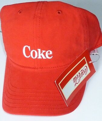 The Coke Coca Cola Licensed Strapback Adjustable Cotton Ball Cap Hat