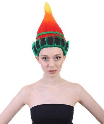 Women Liberty Torch Green Red Orange Troll Wig Halloween Cosplay Costume HW-1482 - Flashlight Halloween Costume