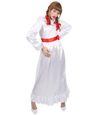 White Dress for Cosplay Movie Annabelle Costume Halloween Fancy Dress HC-314
