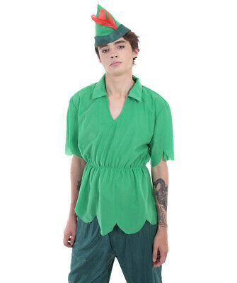 Adult Men's Green Outfit Costume for Cosplay Peter Pan Halloween Party HC-142](Pan Halloween Costume)