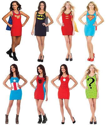 Batgirl New Costume (Superhero Tank Dress Costume Womens Batgirl Riddler Supergirl Wonder)