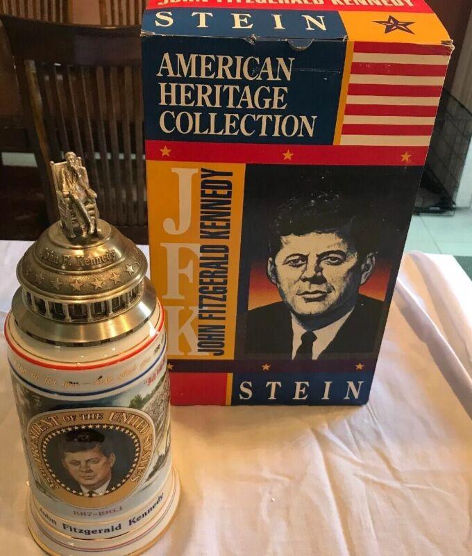 Budweiser JFK John Kennedy Lidded Stein NIB In original Box
