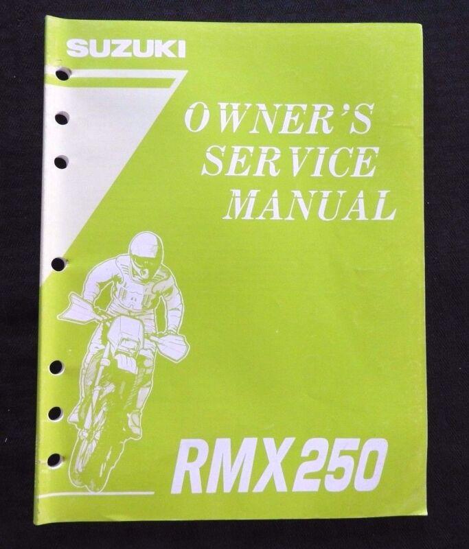 GENUINE 1995 1996 SUZUKI 250 RMX250 MOTORCYCLE OWNER