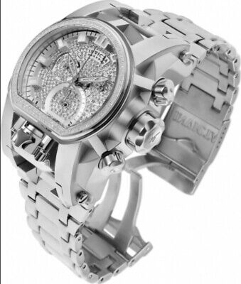 "Invicta Reserve Bolt Zeus Magnum 2 Swiss Mvt 1.85c Diamond Watch ""Chrome"" Polish"