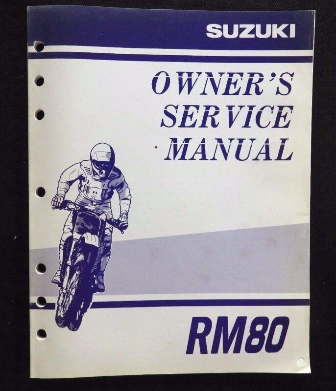 GENUINE 1998 1999 SUZUKI 80 RM80 MOTORCYCLE OWNER