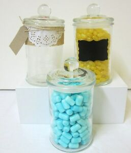 24x-750ml-Small-Glass-Jars-Lids-Candy-Buffet-Lolly-Jar-Wedding-Apothecary-Candle