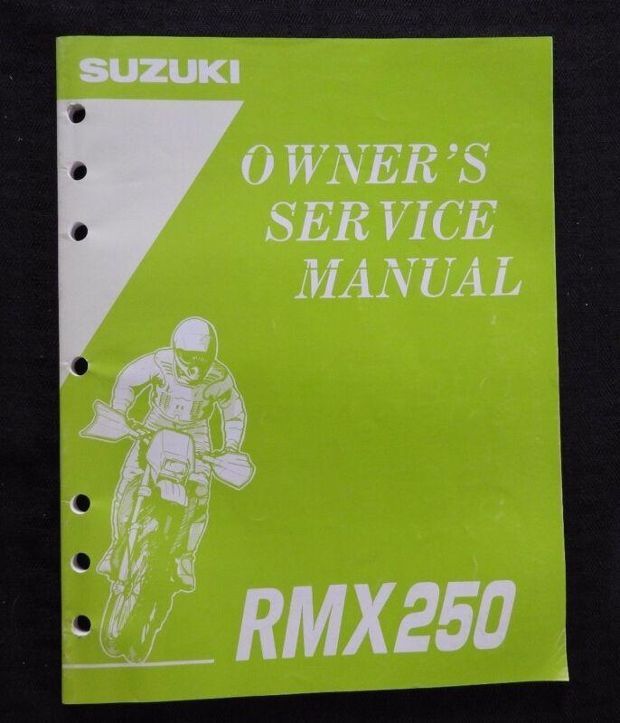 GENUINE 1994 1995 SUZUKI 250 RMX250 MOTORCYCLE OWNER