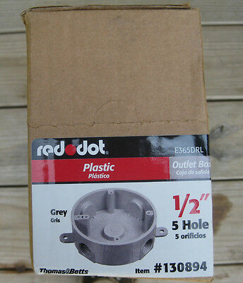 New Reddot Box Of 8 12 Round Plastic Electrical Outlet Box 130894 E365drl
