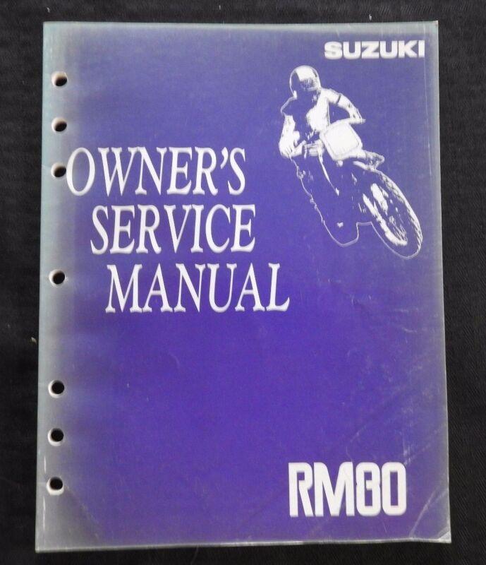 GENUINE 1991 1992 SUZUKI 80 RM80 MOTORCYCLE OWNER