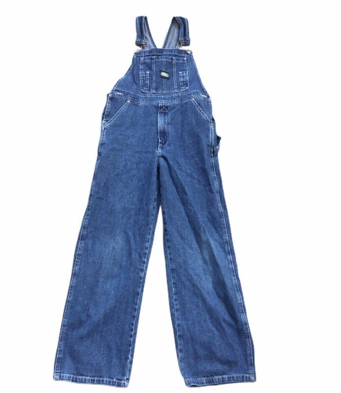 Great Youth Size 14 Key Denim Blue Jean Bib Overalls -