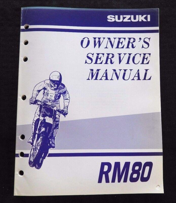 GENUINE 1999 2000 SUZUKI 80 RM80 MOTORCYCLE OWNER