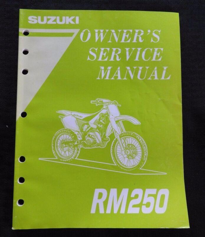 GENUINE 1995 1996 SUZUKI 250 RM250 MOTORCYCLE OWNER