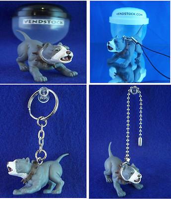 PIT BULL TERRIER #42 HOOD HOUNDS DOG FIGURE DANGLER KEYCHAIN LIGHT FAN LAMP PULL ()