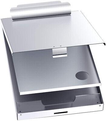 Clipboard Case Folder With Storage Contractor Rn Nurse Coach Work Aluminum Metal