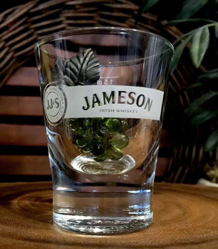 JAMESON & SON Irish Whiskey Round Embossed Base 1.5 oz Shot Glass      PRISTINE!