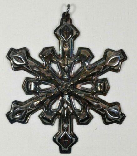 "Vintage 1980 3D Silverplate GORHAM SNOWFLAKE 3.25"" Christmas Tree Ornament"