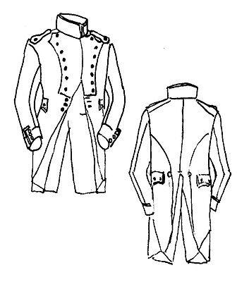 1805 Habit Longe sewing pattern 42/44 Reenactor French Napoleonic uniform