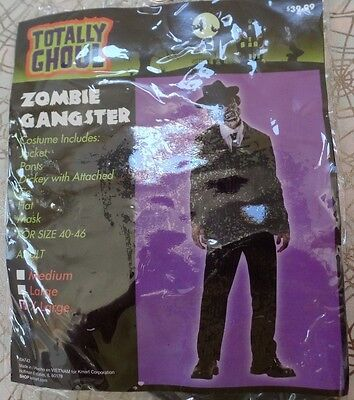 mens NEW NWT HALLOWEEN COSTUME ZOMBIE GANGSTER jacket pants mask hat 4 pc NICE - Zombie Gangster Halloween Costumes