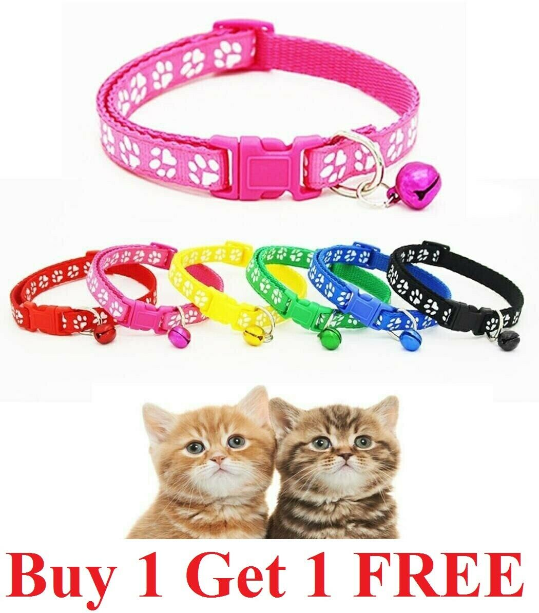 adjustable nylon cat safety collar with bell