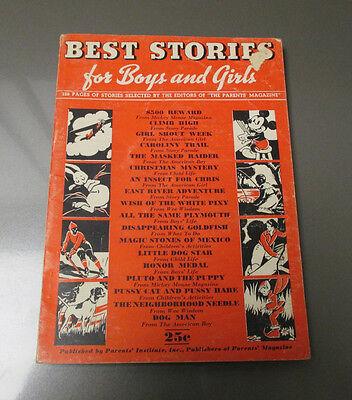 1938 BEST STORIES For Boys & Girls FN- Walt Disney Mickey Mouse 128 pgs