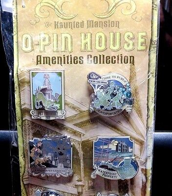 Disney Haunted Mansion O-Pin House Amenities Collection Pin Set LE-750