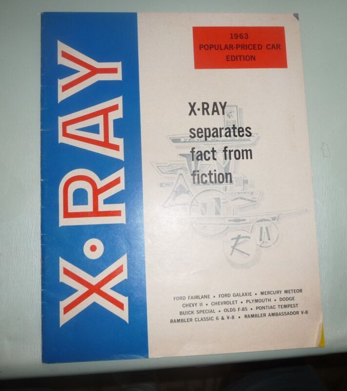 XRAY X-RAY INSPECTION OF AUTOS CARS FORD CHEVROLET BUICK QUALITY TESTS 1963