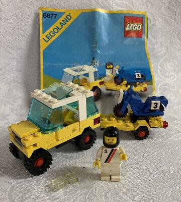 Vintage Lego 6677 Motocross Racing Classic Town Set Complete Instruction Figure