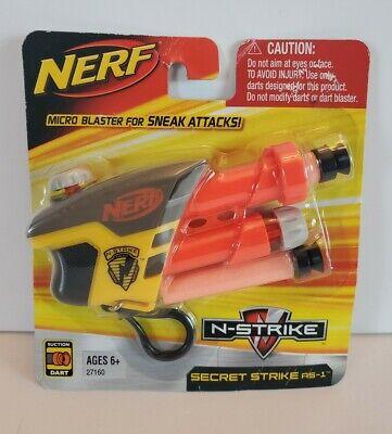 Nerf N-Strike Secret Strike S.S. AS-1 Micro Keychain Soft Dart Blaster RARE New