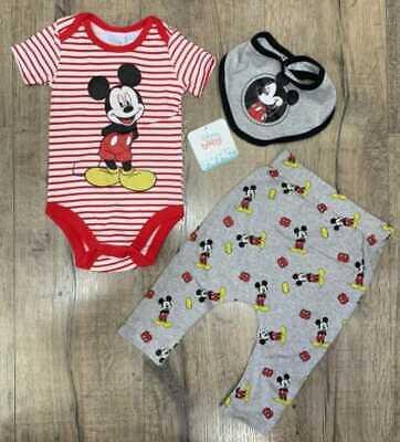 Baby Erstausstattung Set Geschenkset Mickey Mouse Babygeschenk 0-3/3-6/6-12 Mon