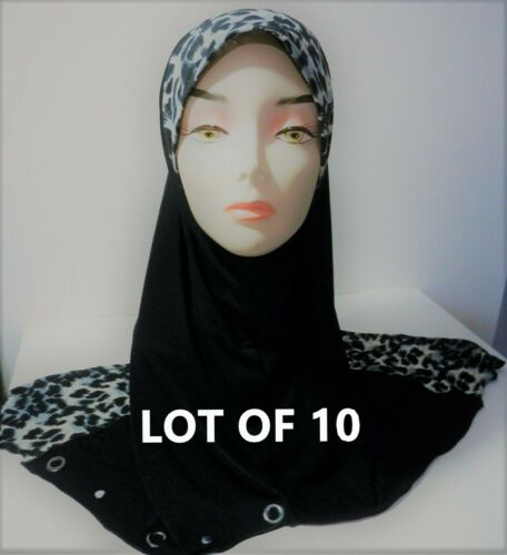 Wholesale Lot 10 Muslim Hijab Head Wear Cover Scarf Black White Islamic Dress