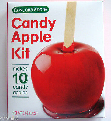 CONCORD FOODS RED CANDY APPLE MIX KIT MAKES 10 CANDY APPLES (Candy Apple Mix)