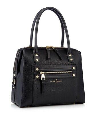 J by Jasper Conran Black Studded Zip Detail Bowler Bag(RRP 49)