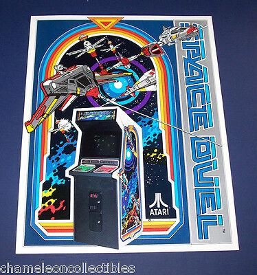 Atari SPACE DUEL Original 1982 NOS Video Arcade Game Space Age Promo Sales Flyer