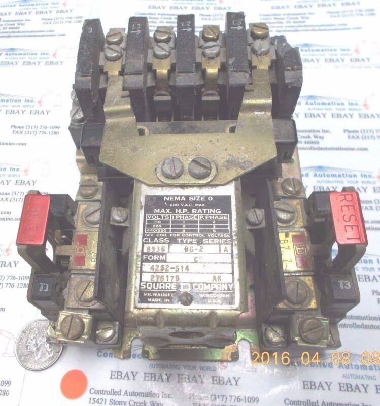 Square D BG-2 Motor Starter