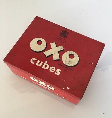 Vintage Oxo Stock Cubes Tin - Retro British Kitchenalia Advertising