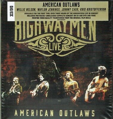 The Highwaymen Live  American Outlaws 4 Disc Set   3 Cds   1 Dvd  Free Shipping