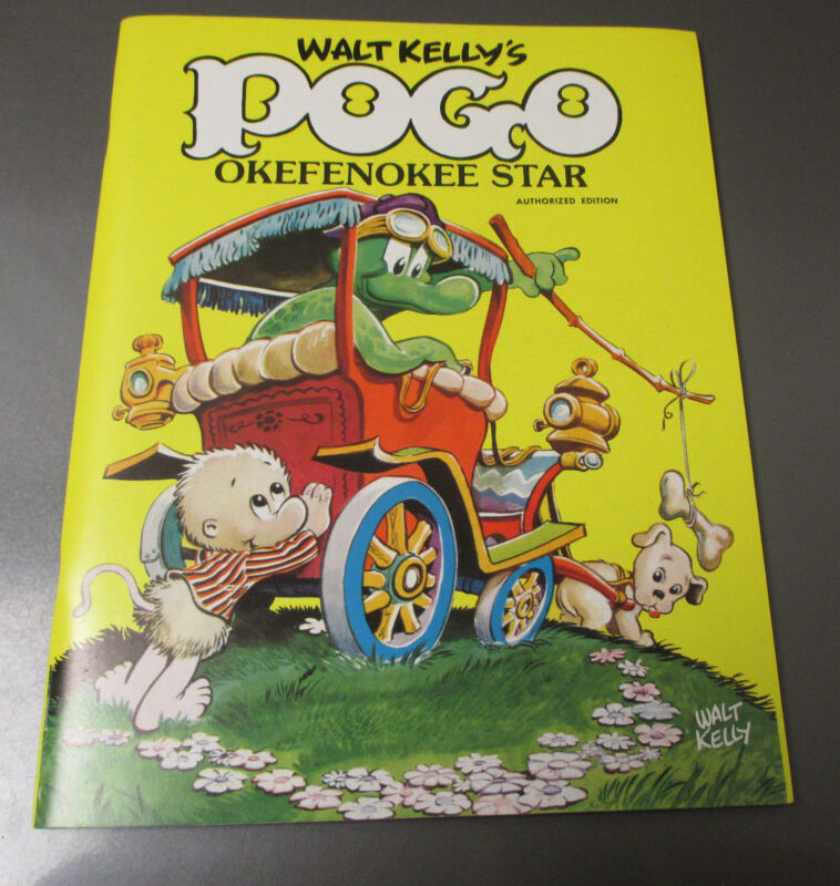 1980 Waly Kelly POGO Okefenokee Star COLORING BOOK VF/NM