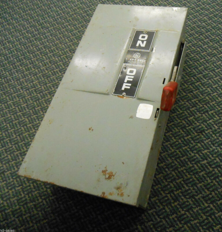 GENERAL ELECTRIC HEAVY DUTY 60AMP 600VAC ENCLOSURE CAT: TH3362