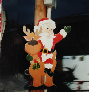 Outdoor Christmas lawn ornaments.