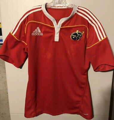 b715a563692 Vintage Mens Adidas Munster Rugby Jersey Red/White M