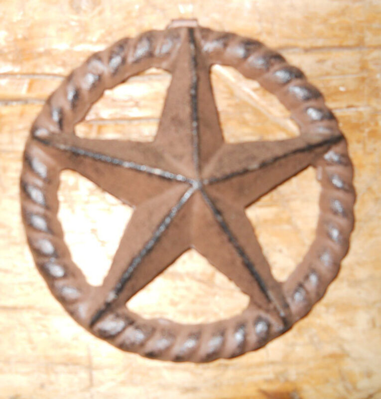 """Cast Iron Stars Architectural Stress Washer Texas Lone Star Rustic Ranch 5"""""""