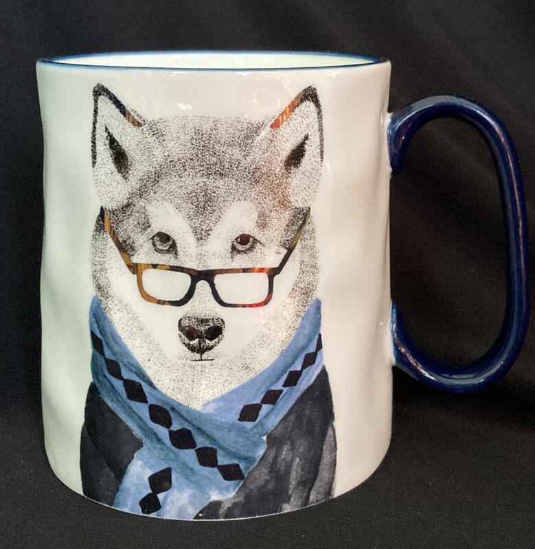 Signature Housewares Inc Hipster Wolf Coffee Tea Mug 16 Oz