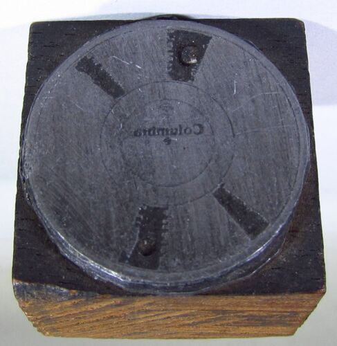 Columbia Records Ink Stamp with Gramaphone Turntable Logo