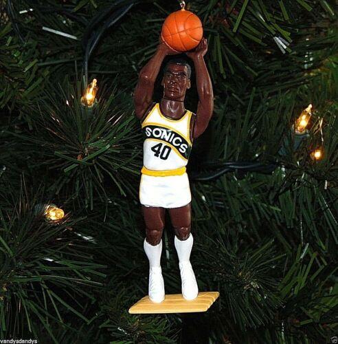 shawn KEMP seattle SUPER sonics basketball NBA xmas TREE ornament HOLIDAY jersey